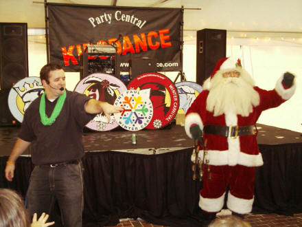 Santa Clause and Kids DJ Justin! Merry Christmas !~!